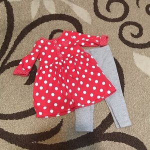 Carter's 12 month red & white polka dot dress